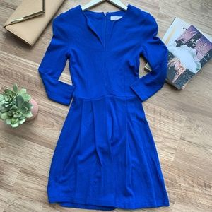 French Connection Blue Long Sleeve Dress